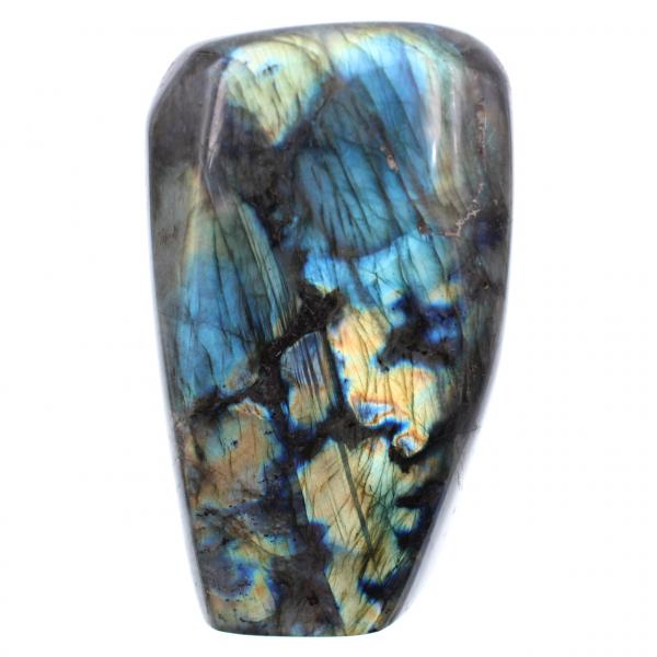 Blue labradorite yellow ornamental stone
