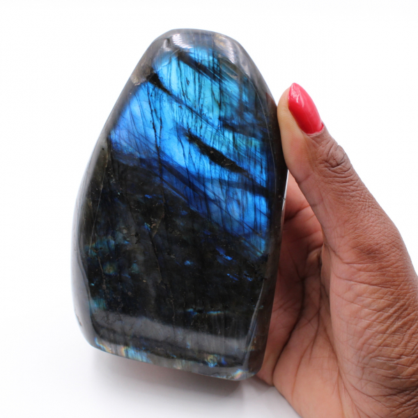 Polished labradorite for ornament