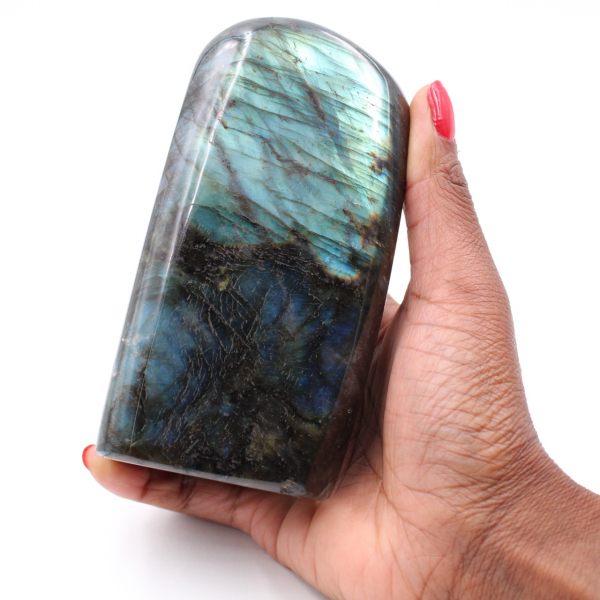 Labradorite stone block