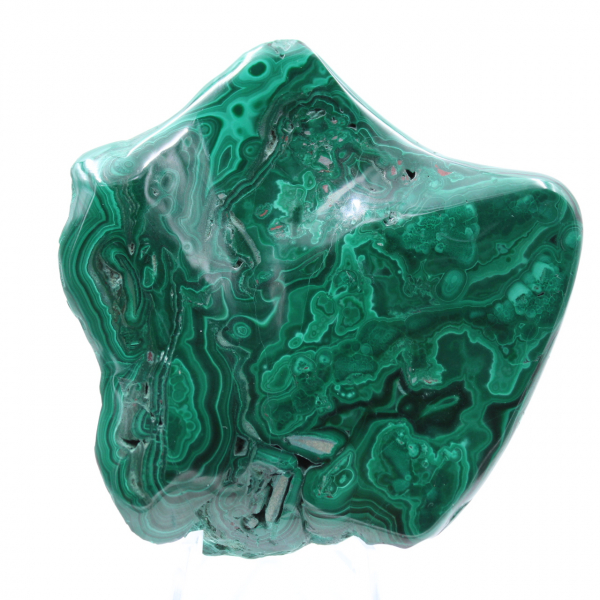 Semi-polished malachite