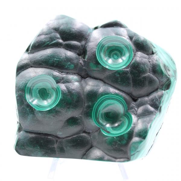 Malachite semi-polished stone