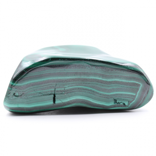 Polished natural malachite