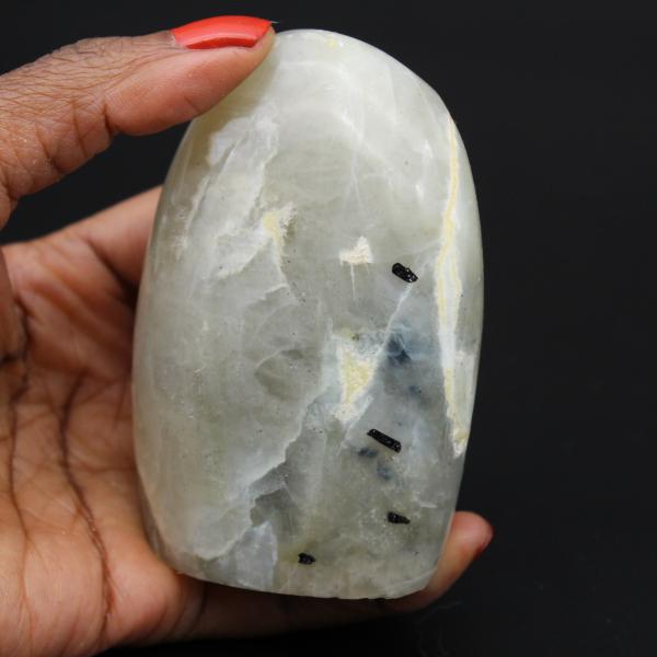 Polished garnierite from Madagascar
