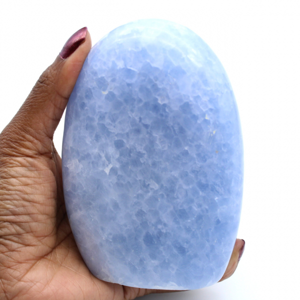 Blue calcite rock