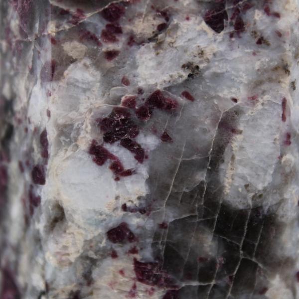 Lepidolite stone prism