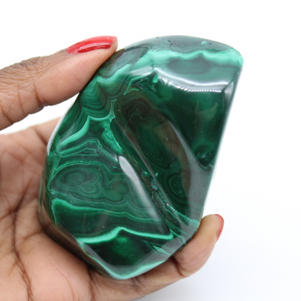 Natural malachite block
