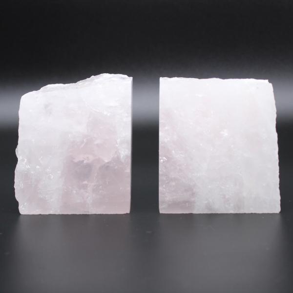 Bookend rose quartz 2 pieces