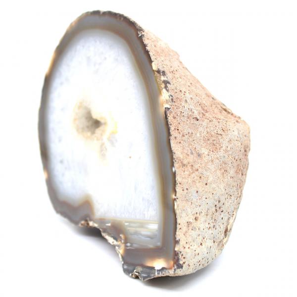 Half quartz agate geode