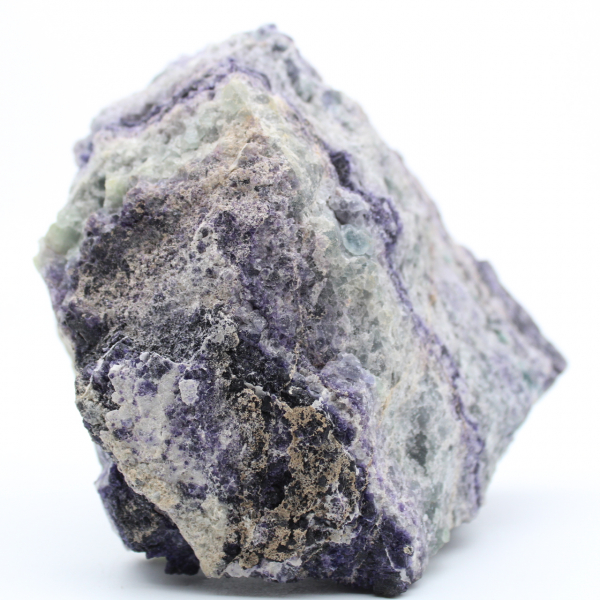 Massive green purple fluorite