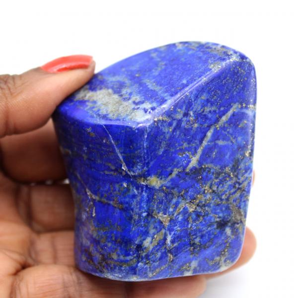 Polished lapis lazuli block