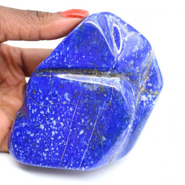 Natural lapis lazuli block