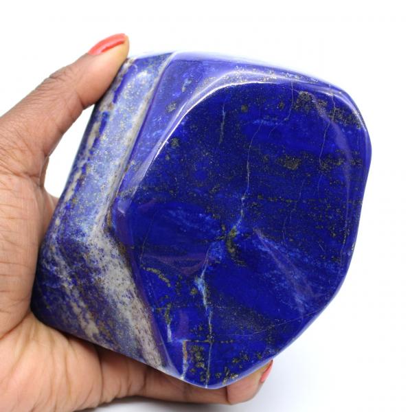 Large ornamental polished Lapis Lazuli stone